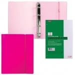 Тетрадь на кольцах Hatber Diamond розовая, А5, 120 листов, в клетку, пластик