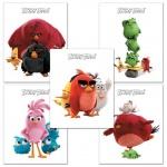 Тетрадь школьная Hatber Angry Birds, А5, 18 листов, в клетку, на скрепке, мелованный картон