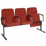 Кресло посетителя Comforum София ткань, терракотовая, на полозьях