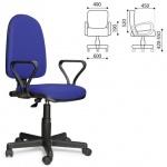 Кресло офисное Престиж ткань, синяя, крестовина пластик