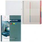 Тетрадь Hatber Four Blocks Ноутбук, A4, 160 листов, в клетку, на спирали, твердый переплет