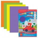 Аппликация из мягкого пластика Апплика 4 цвета, А4, 4 листа