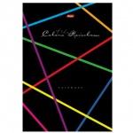 Блокнот Hatber Rainbow, А4, 80 листов, в клетку, на сшивке, ламинированный картон, твердый переплет, 5-цветный блок