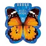 Блокнот Hatber Бабочка, А6, 60 листов, нелинованный, на спирали, мелованный картон, фигурная высечка
