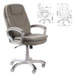 Кресло руководителя Бюрократ CH-868AXSN, крестовина пластик, серое,  искусственная кожа
