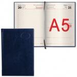 Ежедневник датированный Brauberg Imperial синий, А5, 168 листов, 2017, под гладкую кожу, тонированны