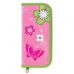 Пенал для девочек Brauberg Розовые цветы, каркасный, 1 отделение