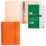 Тетрадь на кольцах Hatber Diamond оранжевая, А5, 120 листов, в клетку, пластик