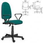Кресло офисное Престиж ткань, зеленая, крестовина пластик
