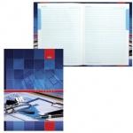 Блокнот Hatber Офис, А4, 120 листов, в клетку, на сшивке, ламинированный картон, твердый переплет, 5-цветный блок