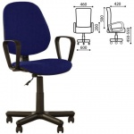 Кресло офисное Nowy Styl Forex GTP ткань, синяя, черная, крестовина пластик