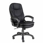Кресло руководителя Бюрократ CH-868AXSN, крестовина пластик, черное,  экокожа
