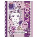 Тетрадь общая Hatber Для девушек, A5, 96 листов, в клетку, на спирали, мелованный картон, раскладная обложка