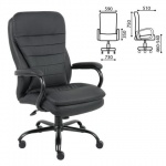 Кресло руководителя Brabix Heavy Duty HD-001 иск. кожа, черная, крестовина металл