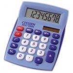 Калькулятор настольный Citizen SDC-450NBLCFS синий, 8 разрядов