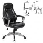 Кресло руководителя Brabix Turbo EX-569 иск. кожа, черная, крестовина пластик