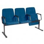 Кресло посетителя Comforum София ткань, синяя, на полозьях