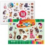 Наклейки декоративные детские Hatber Любимцы, 400 штук, в альбоме