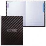 Блокнот Hatber CarbonStyle, А5, 80 листов, в клетку, на сшивке, ламинированный картон, 5-цветный блок