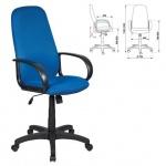 Кресло руководителя Бюрократ CH-808AXSN ткань, крестовина пластик, синее