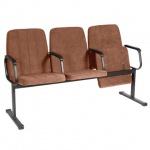Кресло посетителя Comforum София ткань, коричневая, светлая, на полозьях