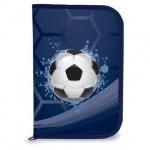 Пенал для мальчиков Brauberg Мяч, каркасный, 1 отделение, с откидной планкой