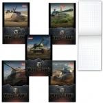 Блокнот Hatber World of tanks Танки, А7, 48 листов, в клетку, на склейке, мелованный картон, ассорти
