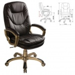 Кресло руководителя Бюрократ CH-868AXSN, крестовина пластик, коричневое,  искусственная кожа