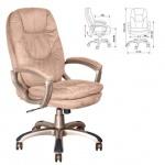 Кресло руководителя Бюрократ CH-868AXSN, крестовина пластик, мокко,  микрофибра