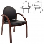 Кресло посетителя Chairman 659 иск. кожа, черная, матовая, terra 118, на ножках