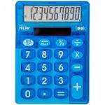 Калькулятор настольный Milan синий прозрачный, 10 разрядов