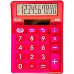 Калькулятор настольный Milan красный прозрачный, 10 разрядов