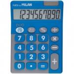 Калькулятор настольный Milan серо-голубой, 10 разрядов