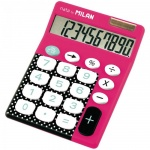 Калькулятор настольный Milan розовый, 10 разрядов
