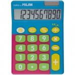 Калькулятор настольный Milan голубой микс, 10 разрядов