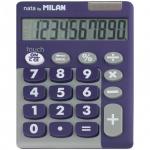 Калькулятор настольный Milan серо-фиолетовый, 10 разрядов