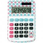 Калькулятор настольный Milan розово-голубой, 8 разрядов