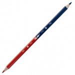 Карандаш двухцветный Milan синий-красный, заточенный