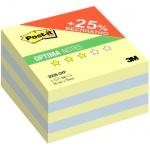 Блок для записей с клейким краем Post-It Optima Осень, желтая пастель, 76х76мм, 500 листов, 2028-OYP