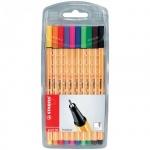 Ручка капиллярная Stabilo Point, 0.4мм, 10 цветов