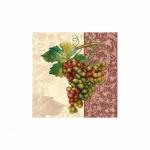 Салфетки сервировочные Pol-Mak Maki Гроздь винограда, 33х33см, 3 слоя, 20шт