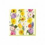 Салфетки сервировочные Pol-Mak Daisy Цветы, 33х33см, 3 слоя, 20шт