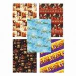 Бумага упаковочная Pol-Mak Новогодняя сказка, 99.5х68.5см, ассорти
