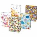 Пакет подарочный Pol-Mak Детский праздник, 34.5х48х13см, ассорти