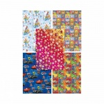 Бумага упаковочная Pol-Mak Детский праздник, 99.5х68.5см, ассорти