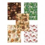 Бумага упаковочная Pol-Mak Новогодние  украшения, 99.5х68.5см, ассорти