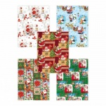 Бумага упаковочная Pol-Mak Поздравление Деда Мороза, 99.5х68.5см, ассорти