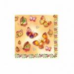 Салфетки сервировочные Pol-Mak Daisy Бабочки, 33х33см, 3 слоя, 20шт