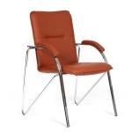 Кресло посетителя Chairman 850 иск. кожа, коричневая, terra 110, на ножках, собр.
