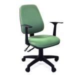 Кресло офисное Chairman 661 ткань, зеленая, крестовина пластик